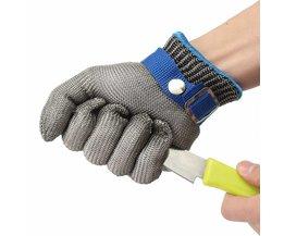 Maat S Veiligheid Cut Proof Steekwerende Rvs Draad Metalen Mesh Handschoen Hoge Prestaties Niveau 5 Bescherming MyXL