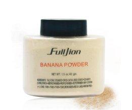 Fulljion 1 Stks Banaan Losse Poeder Langdurige Whitening Concealer Poeder Minerale Make Gezicht Foundation Highlighter fulljion