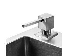 Vierkante badrandcombinaties zeepdispenser aanrecht geschikt roestvrij stell materiaal oppervlak geborsteld Vloeibare wasmiddel houder MELLRAIN