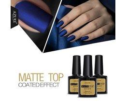 Azure Schoonheid 8 ml Matt Matte Top Coat Nail Gel Polish Nail Art Top Coat Gel Lakken Langdurige UV Led Matt Nail Gel Lijm AZURE BEAUTY