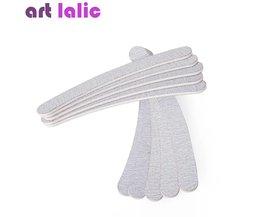 10 x Grijs Nagelvijlen Schuren 100/180 Curve Banaan voor Nail Art Tips Manicure Pedicure Art lalic