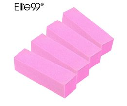 4 Stks/pak Nail Art Buffer File Block Pedicure Manicure Buffing Schuren Poolse Wit Make Polish Gereedschap Elite99