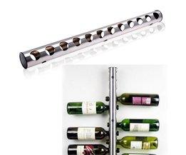 Rvs Wijnrek Bar Wijnrek Bar Wandmontage Keuken Houder Voor 12 Flessen BESTOMZ