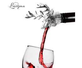 Rvs Herten Stag Head Wijn Schenker Unieke Wijnfles Stoppers Wijn Beluchters Bar Gereedschap KC0818-1  LMETJMA