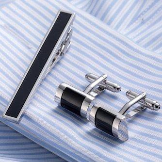 Luxe  Tie Clip Manchetknopen Set Topkwaliteit Tie Pin manchetknopen Set Groothandel Tie Bar Link Set 53 VAGULA