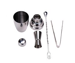 4 stks 250 ML Rvs Zilver Cocktail/Whisky Shaker Wijn Jigger Tool Kit Bar Wijn Maken Tool Set GRATIS POST VKTECH