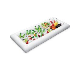 134x64 cm Opblaasbare Bier Koeler Tafel Pool Float Zomer Water Party Air Matras Ijsemmer Serveren/Salade Bar Tray MyXL