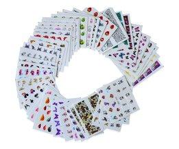 40 vellen WaterNail Stickers Gemengde Bloem Cartoon Nail Art Water Transfer Sticker Decals Manicure Wraps Decor BESTZ001-040 Ur Beautiful