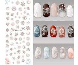 DS370 DIY Designer Water Transfer Nails Art Sticker Grey Sneeuwvlok Chirstmas Winter Nail Stickers Wraps Folie Sticker manicure KASAKO Docai