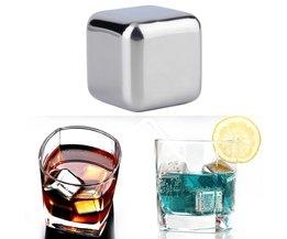 5 stks/partijWhiskey rvs Stenen Whisky ijs koeler voor Whisky bier Bar huishoudelijke Huwelijkscadeau Gunst Kerst MyXL