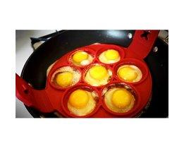 7 Raster DIY Koken Bakvormen Siliconen Omelet Schimmel Pannenkoek Mallen Eggmold Bakvorm BEIGUAN