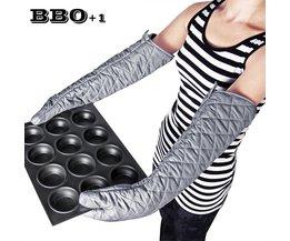 1 st Avondmaal Lange 23 ''hittebestendig en anti-Keuken handschoen Katoen Ovenwanten BBQ handschoenen Hand Heater Keuken Koken Tool MyXL