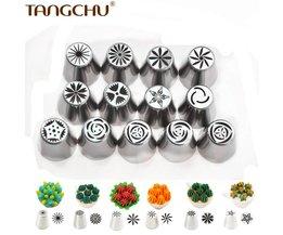 13 stks/set russische rvs icing piping nozzles pastry tips coupler mondstuk als cake decorating gereedschap voor keuken diy 16177 tangchu