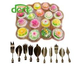 3D Jelly Art Gereedschap Jelly Cake Jello art Gelatine Gereedschap pudding nozzle Russische Nozzles 10 STKS/SET bruidstaart decoreren gereedschappen F dcrt