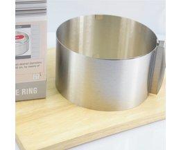 "Verstelbare Rvs Mousse Ring 6 ""-12"" Cake Pan Bakken Styling Decorating Gereedschap Set Mould Keuken Accessoires ANDES"