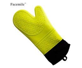 Dikke Lange Waterdichte Hittebestendige Siliconen Handschoen met Katoen Keuken BBQ Koken Bakken Handschoenen 54070 MyXL