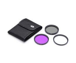 Camera Filter Set (UV, FLD en CPL) 58mm