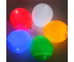5 LED Ballonnen voor een Feestje