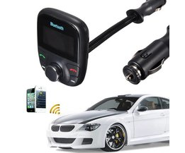Bluetooth Handsfree Carkit, Speelt Muziek via USB, Bluetooth & FM
