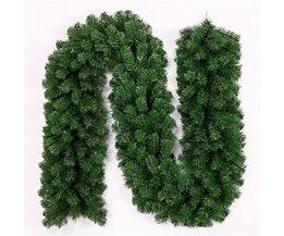 Groene Kerstslingers 2,7 Meter