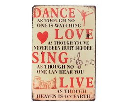 Decoratief Bord 'Dance, Love, Sing, Live'
