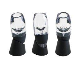 Nieuwe Mini Rode Wijn Beluchter Filter, Magic Decanter Essential Wijn Snel Beluchter, wijn Hopper Filter Set Wijn Essentiële Apparatuur