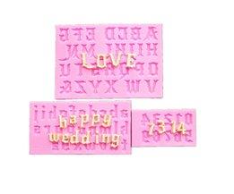 XIBAO 3 stks/set verschillende stijlen Alfabetten Siliconen Cakevormen met letters & numbers, Fondant Cookie Chocolade Mallen MK1137