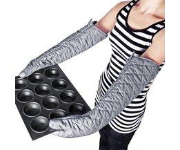 1 st Avondmaal Lange 23 ''Katoen Ovenwanten BBQ Handschoenen hittebestendige Anti-Keuken handschoenen Hand Heater Keuken BBQ Accessoires MyXL