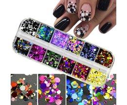 1 Set Ultradunne Pailletten Nail Art Glitter Mini Paillette Kleurrijke Ronde 3d Nail Decoraties Gemengde Size Manicure Accessoires BEP Ur Beautiful