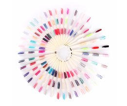 150 tips 3 knopen nail art display natuurlijke grafiek kleur Sample Praktijk Fan Nagellak Display met Ring Nail Gereedschap F0396 Makartt