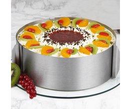 Bakvormen Intrekbare Rvs 1 St Cirkel Mousse Ring Bakken Tool Set Cakevorm Tools Size Verstelbare Bakvormen 16-30 cm KING SARAS