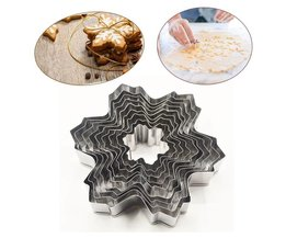 9 pocs/set rvs sneeuwvlok fondant cakevormen cookie cutter set bakken decorating gereedschap diy BEIGUAN