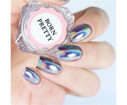 0.5 g/doos Holografische Laser Regenboog Poeder Nail Chrome Pigment Glitter Poeder Manicure Nail Art Glitter Decoratie Born Pretty