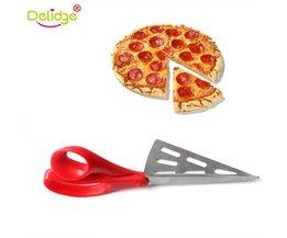 Delidge 1 st 2 in 1 Pizza Schaar Rvs verwijderbare Pizza Schop Schaar Brood Pie Snijgereedschap Pie Slicer mes delidge