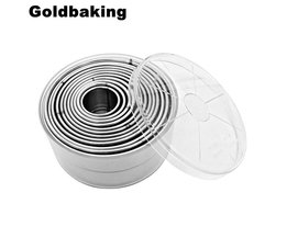 Rvs Ronde Glad Buscuit Mould Cookie Cutters Goldbaking