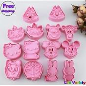 7 sets mickey konijn Winnie hello kitty cookie cutters mold  MyXL