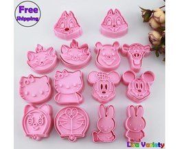 7 sets mickey konijn Winnie hello kitty cookie cutters mold  MyXL