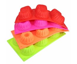 Freshware 6-Cavity Mini Fancy Bundt Cake Silicone Mold en Bakken Pan YIBO
