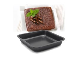 2-Pack, anti-aanbak 7.5 inch vierkante cake pan, Cakevormen Anti-aanbak Zwart bakvormen