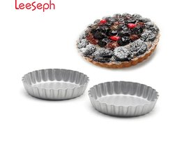 Pak van 8, 4-inch mini cake pan, pie pan ronde cakevorm gratis verzending