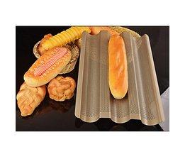 Baguette Franse Brood Bakplaat, Baguette Frame Rack, Anti-aanbak Koolstofstaal Baguette Brood Bakvorm Pannen Keuken Accessoires