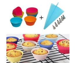 Siliconen Cake Decorating tool Icing Piping Cream Spuitzak Set met 12 stks Cupcake MOM'S HAND