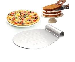 """Pizza Peel, Cake Transfer Schop 12 """"x 10"""" (Zilver)"""