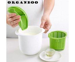 Magnetron Kaas Maker Keuken Dessert Gebak Pie Tool Bevat Recepten Plastic Gezond Voor Maken Kaas Thuis Koken ORGANBOO