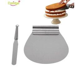 Delidge 2 stks/set 8 Inch Cake Schop Gebak Spatels Rvs Crème Spatel Cake Pie Transfer Schop Slicer Bakken Tool delidge