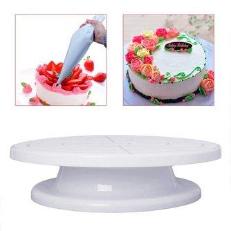"""11 """"Roterende Revolving Cake Plaat Decoreren Draaitafel Keuken Display Stand Praktische MyXL"""