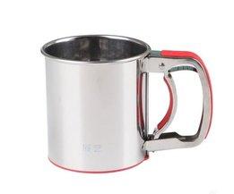 roestvrij staal gaas zeven meel zeef zeef meel suiker shaker keuken bakken cup MyXL