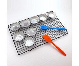 Anti-aanbak Metalen Cake Koelrek Netto Cookies Koekjes Brood Muffins Drogen Stand Cooler Houder Keuken Bakken Tools 25*40 cm JETTING