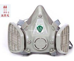 SJLgasmasker stofmasker grijs silicagel stof filter masker PM2.5 rook Gepolijst industriële veiligheid lassen masker MyXL