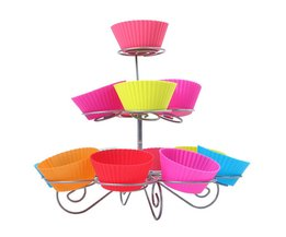 Party decoratie beste prestaties 3 tier 13 cupcakes cake pop stand en Lolly Houder VKTECH